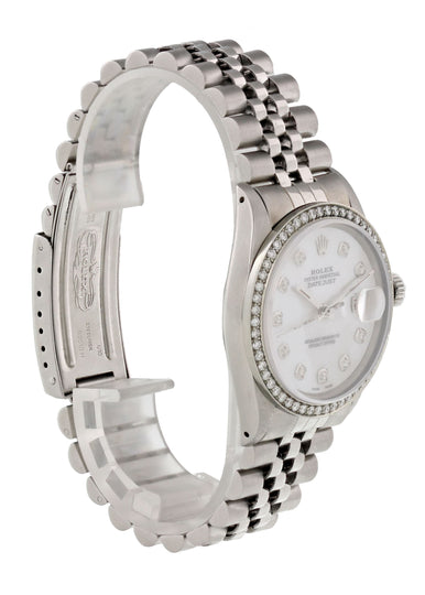Rolex Datejust 16030 Diamond Dial And Bezel Mens Watch
