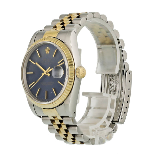 Rolex Datejust 16233 Blue Dial Men Watch
