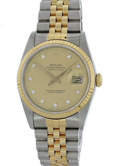 Rolex Datejust 16233G Men Watch Original Box & Papers