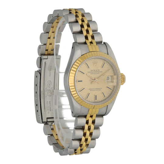 Rolex Datejust 69173 Linen Dial Ladies Watch Box Papers