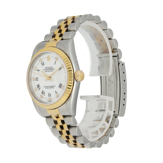 Rolex Datejust Midsize 68273 Diamond Dial Ladies Watch