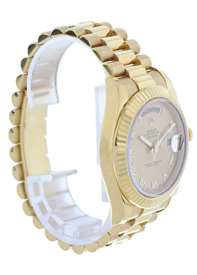 Rolex Day-Date II President 218238 18k Yellow Gold Mens Watch