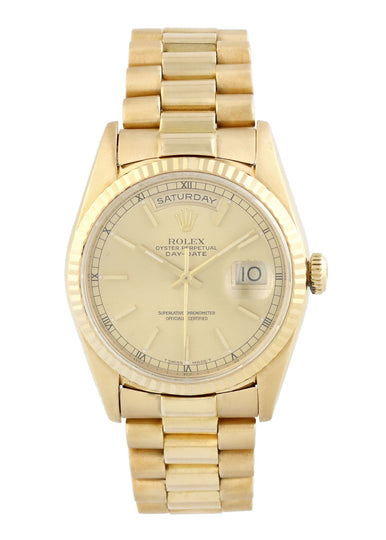 Rolex Day-Date President 18238 18k Yellow Gold Watch
