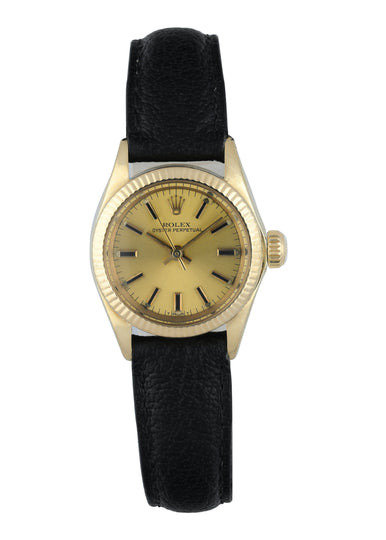 Rolex Oyster Perpetual 6719 Yellow Gold Ladies Watch