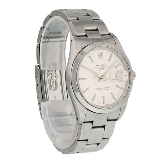 Rolex Oyster Perpetual Date 15200 Mens Watch Box Papers