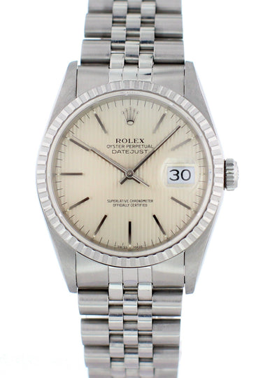 Rolex Oyster Perpetual Datejust 16220 Mens Watch With Papers