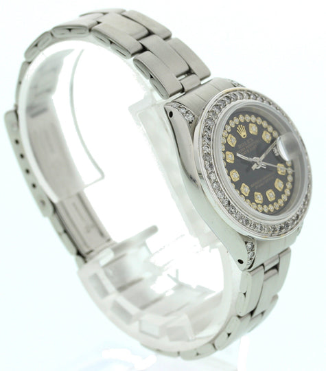 Rolex Oyster Perpetual Datejust SS & Diamonds 6917