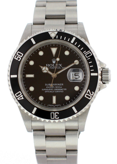 Rolex Oyster Perpetual Submariner 16610T Mens Watch