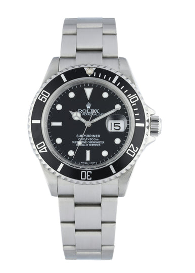 Rolex Submariner 16610 Engraved Rehaut Men's Watch