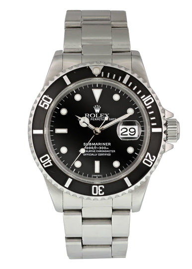 Rolex Submariner 16610 Mens Watch Box & Papers