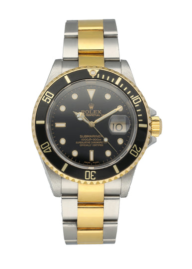 Rolex Submariner 16613 Men's Watch Box Papers