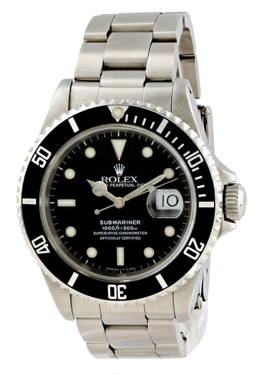 Rolex Submariner Date 16610 Mens Watch Box Papers
