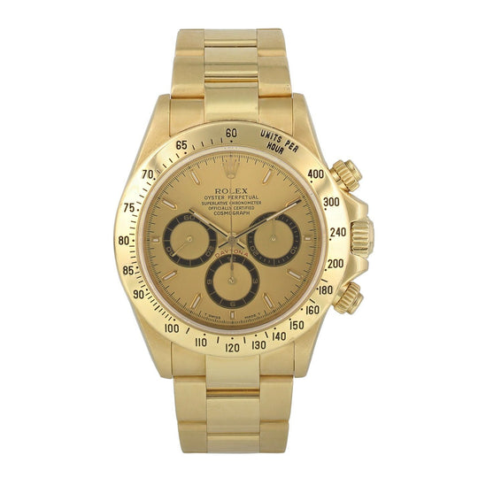 Rolex Zenith Daytona 16528 Yellow Gold Mens Watch