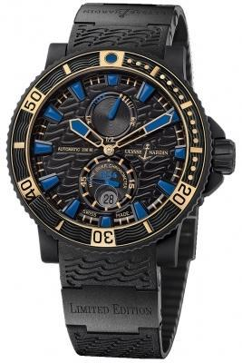 Ulysse Nardin Maxi Marine Diver 263-92LE-3C/923-RG Limited Edition Black Sea Mens Watch. Box & Papers.