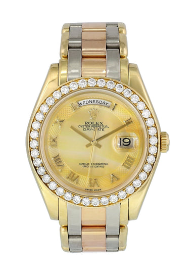 Rolex Tridor Day Date Perlmaster 18948  Mens Watch