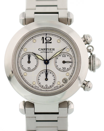 Cartier Pasha 2412 Automatic Chronograph Box & Papers
