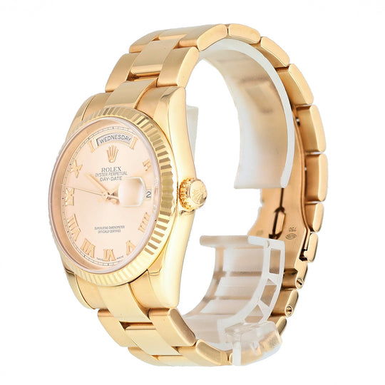 Rolex Day Date 118235 President 18k Rose Gold Mens Watch Box Papers