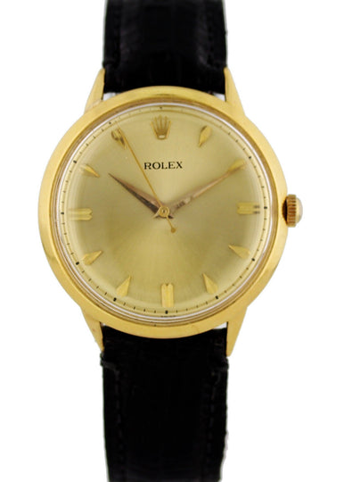 Vintage Rolex 18K Yellow Gold Mechanical Hand Winding