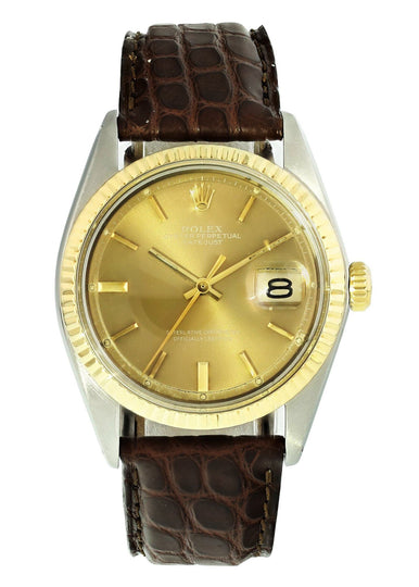 Vintage Rolex Datejust 1601 Two Tone Mens Watch