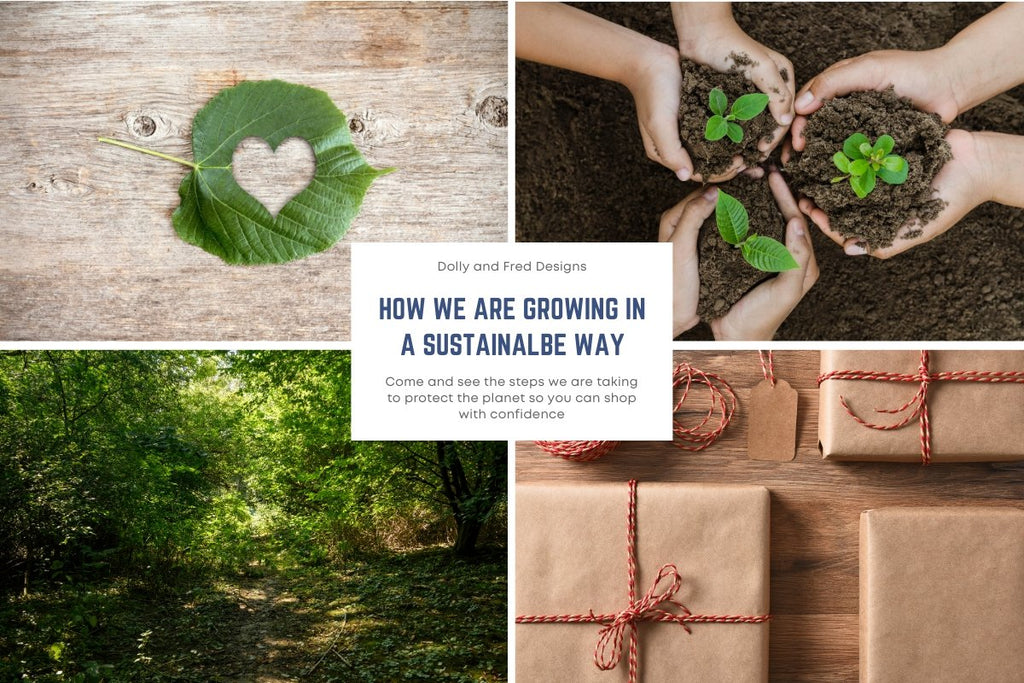How we create a sustainable business | Dolly and Fred Designs