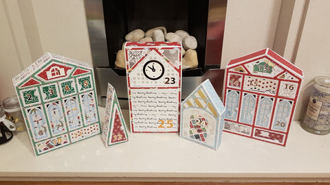Homemade and handmade advent calender, cricut advent houses, kindness advent journey