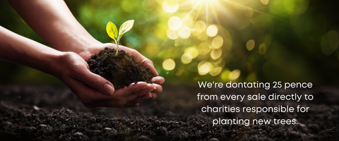 We are donating money from every sale to plant new trees