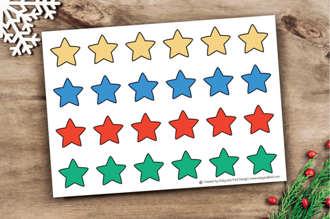 Printable stars to cut out and use with the kindness advent calendar