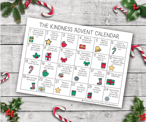 Free Downloadable and Printable Kindness Advent Calender