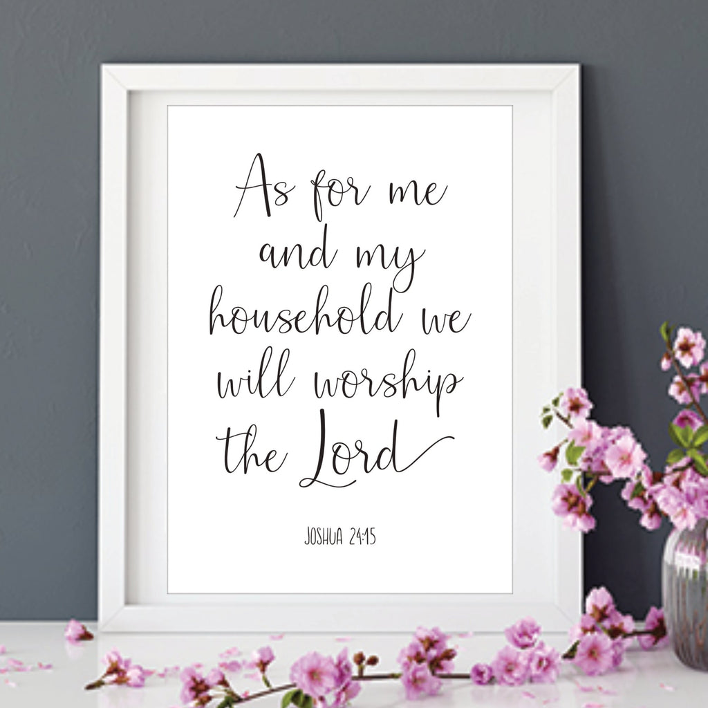 As For Me and My House Bible Verse Print - Dolly and Fred Designs