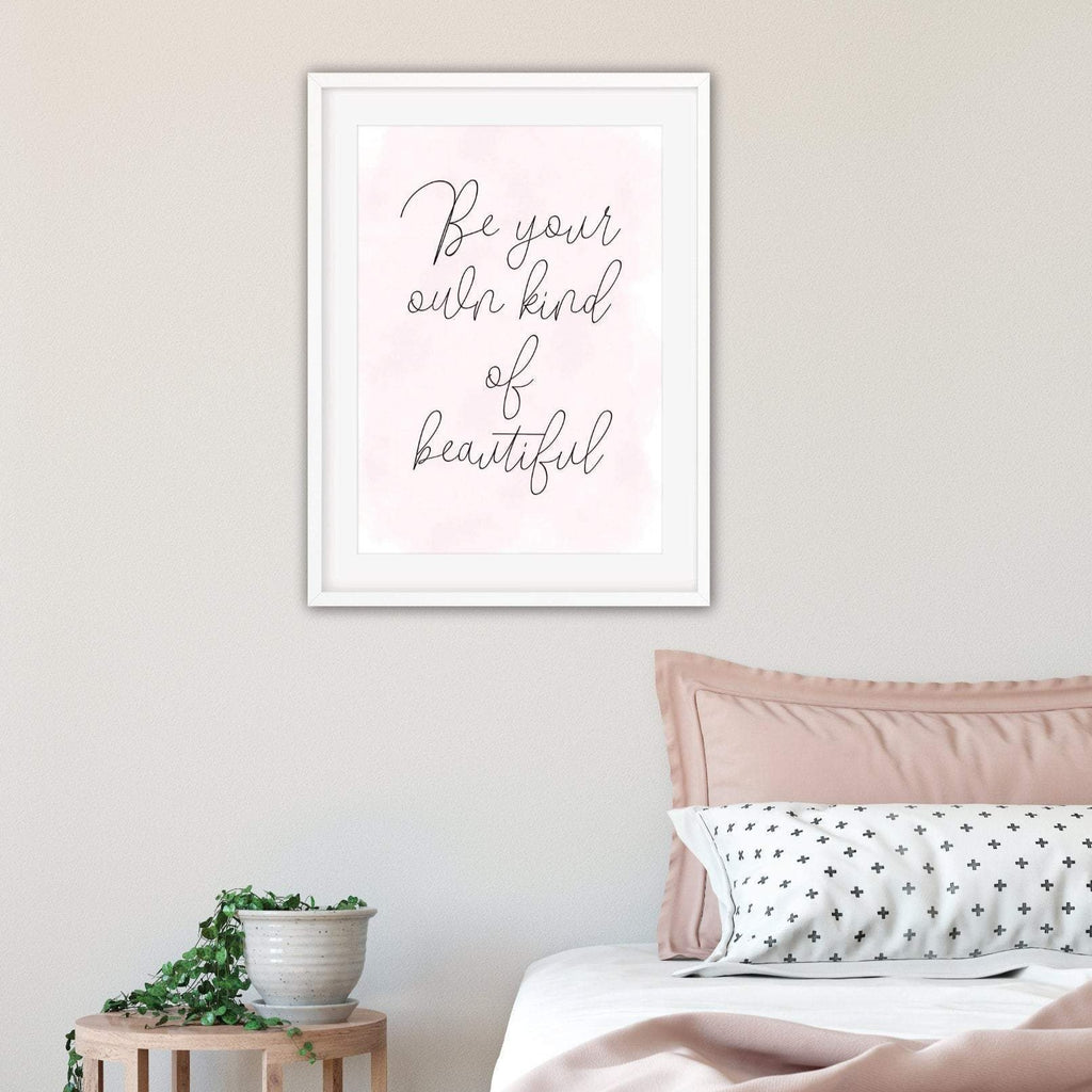 Be Beautiful motivational Print - Dolly and Fred Designs