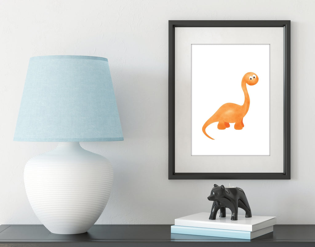 Be strong and courageous dinosaur print set - Dolly and Fred Designs