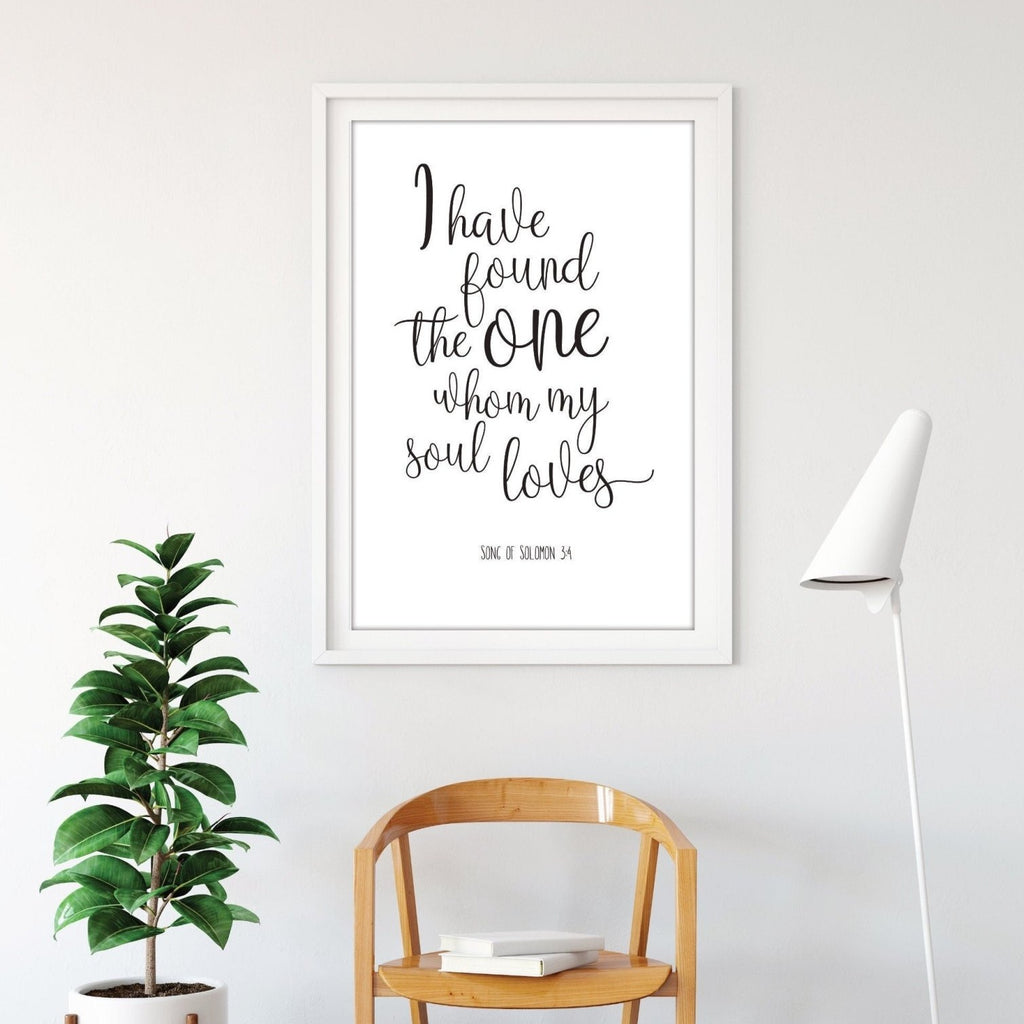 Christian Verse Anniversary Print - Dolly and Fred Designs