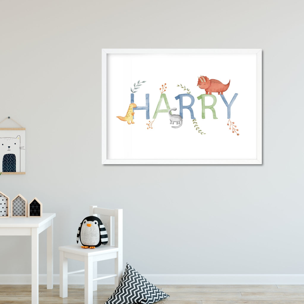 Dinosaur Name Print - Dolly and Fred Designs
