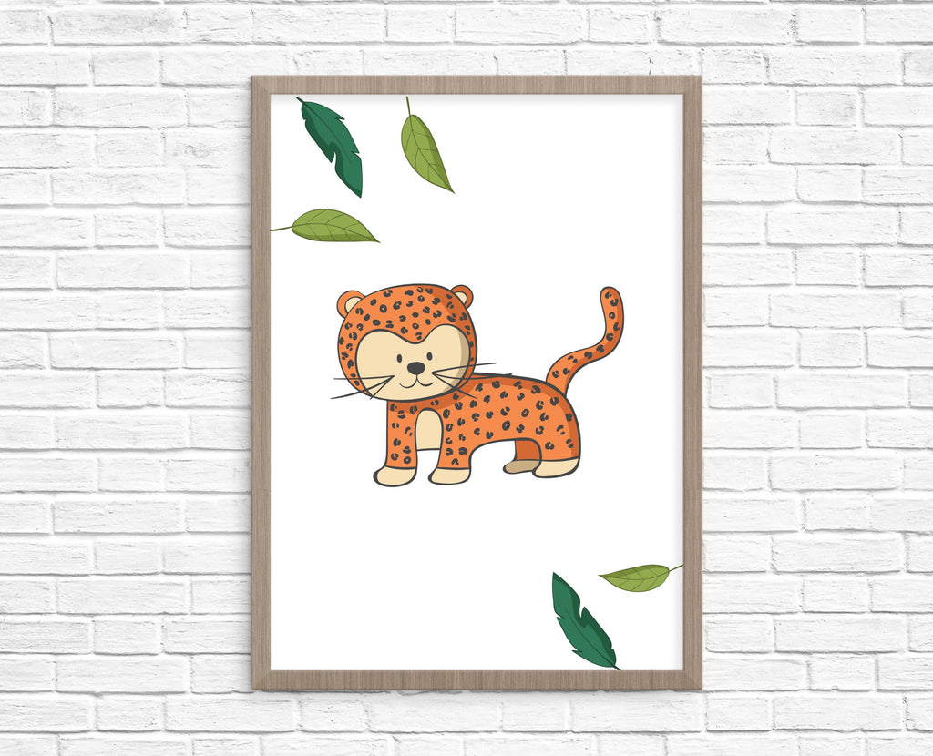 Jungle animal art print set - Dolly and Fred Designs