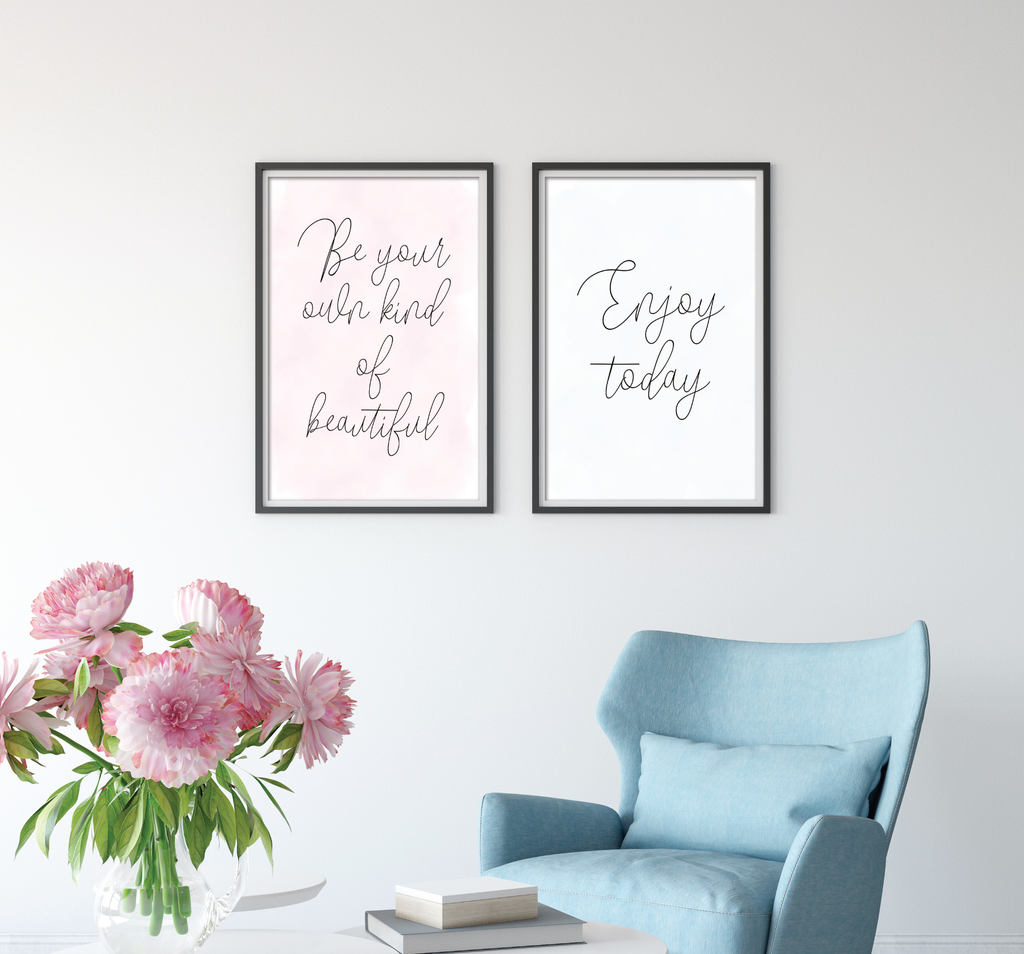 Enjoy Today Motivational Print - Dolly and Fred Designs