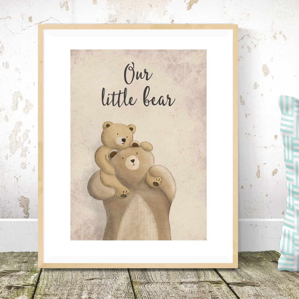 Mummy and Baby Bear Print - Dolly and Fred Designs