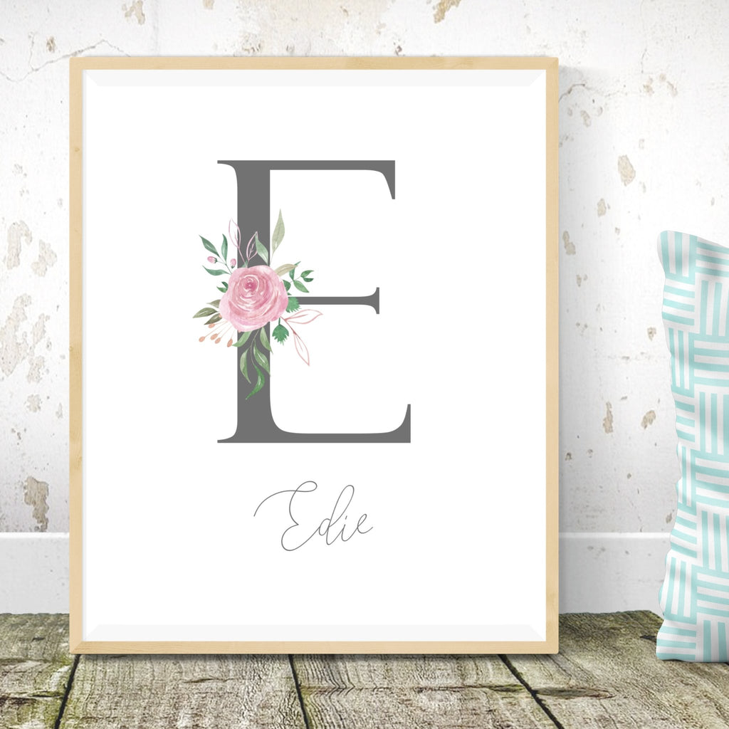 Personalised Bunny Rabbit Nursery Print Set - Dolly and Fred Designs