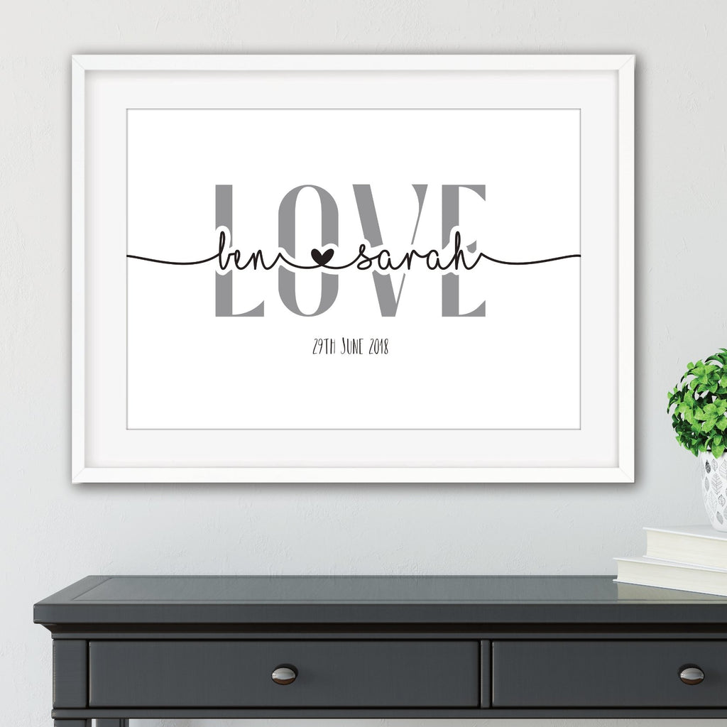 Personalised Couples Print - Dolly and Fred Designs