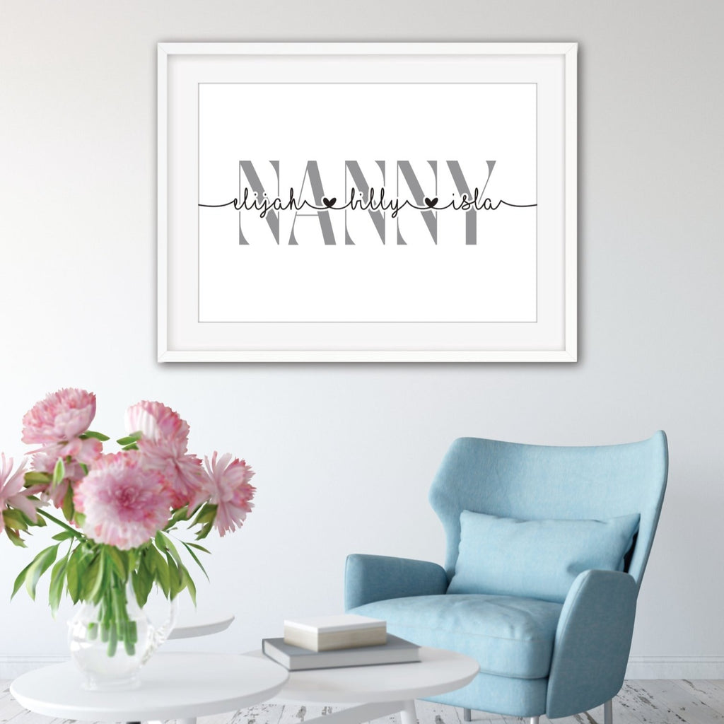 Personalised Nanny Print - Dolly and Fred Designs