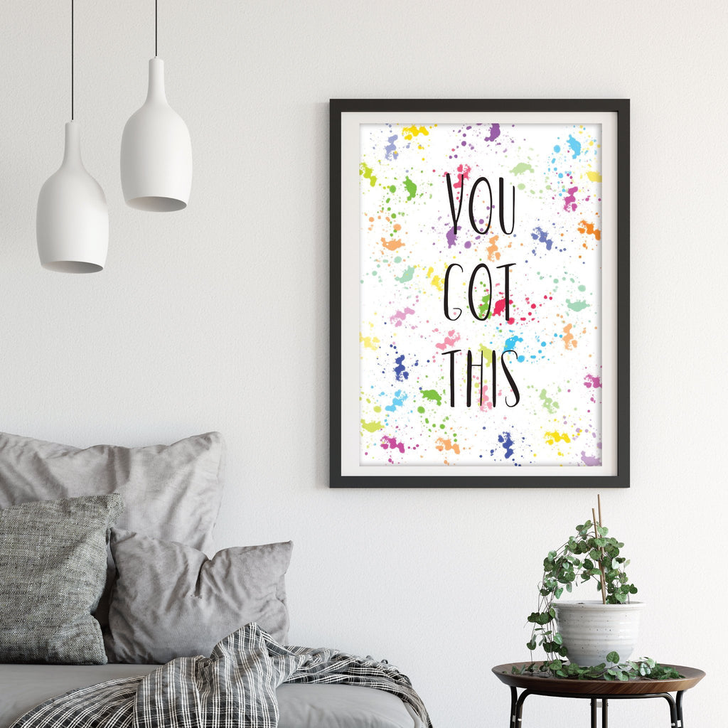 Rainbow Lockdown motivational Print - Dolly and Fred Designs