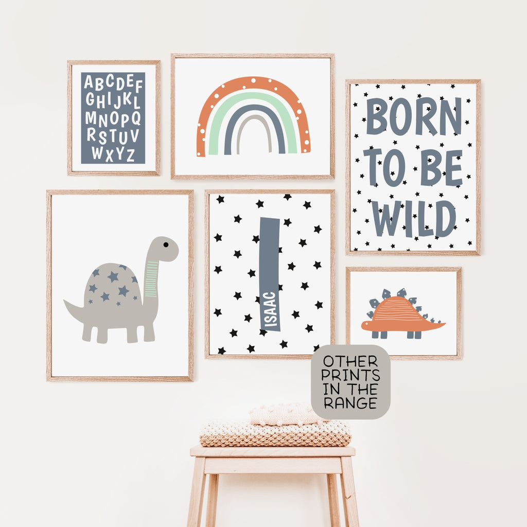 Scandinavian Dinosaur Nursery Print Set - Dolly and Fred Designs