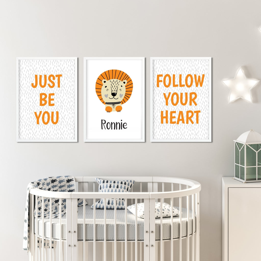 Scandinavian Lion Nursery Print Set - Dolly and Fred Designs