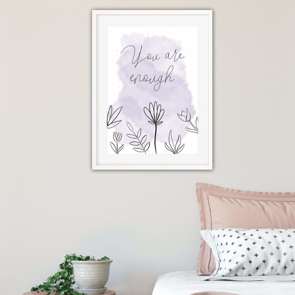 You are enough motivational Print - Dolly and Fred Designs