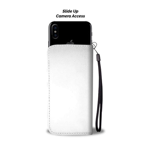 Image of wc-fulfillment Wallet Case iPhone X / Xs Ask My AI | Phone Wallet Case