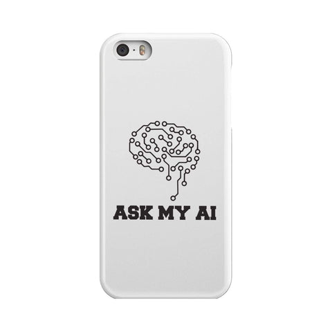 Image of wc-fulfillment Phone Case iPhone 5 Ask My AI | Super Slim Phone Case