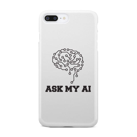 Image of wc-fulfillment Phone Case iPhone 7 Plus Ask My AI | Super Slim Phone Case