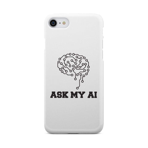 Image of wc-fulfillment Phone Case iPhone 8 Ask My AI | Super Slim Phone Case