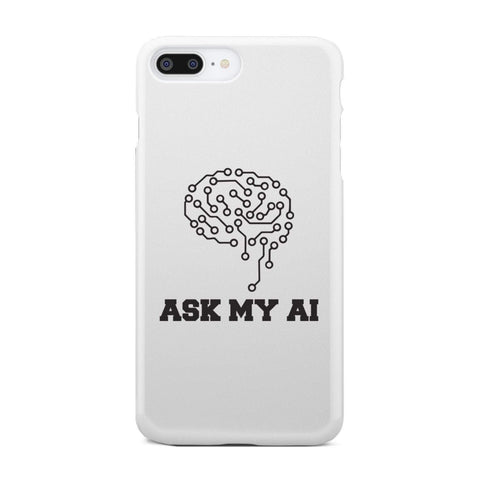 Image of wc-fulfillment Phone Case iPhone 8 Plus Ask My AI | Super Slim Phone Case