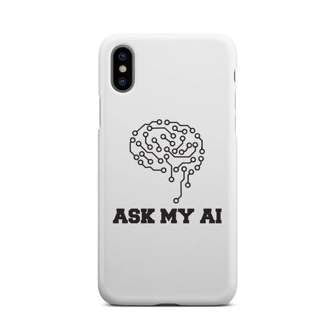 Image of wc-fulfillment Phone Case iPhone X Ask My AI | Super Slim Phone Case