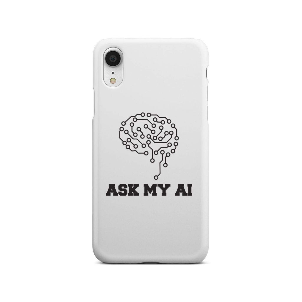 wc-fulfillment Phone Case iPhone Xr Ask My AI | Super Slim Phone Case